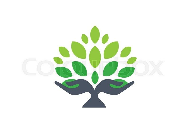 tree hand logo  hand tree nature wellness health symbol spa clip art free images spa girl clipart free