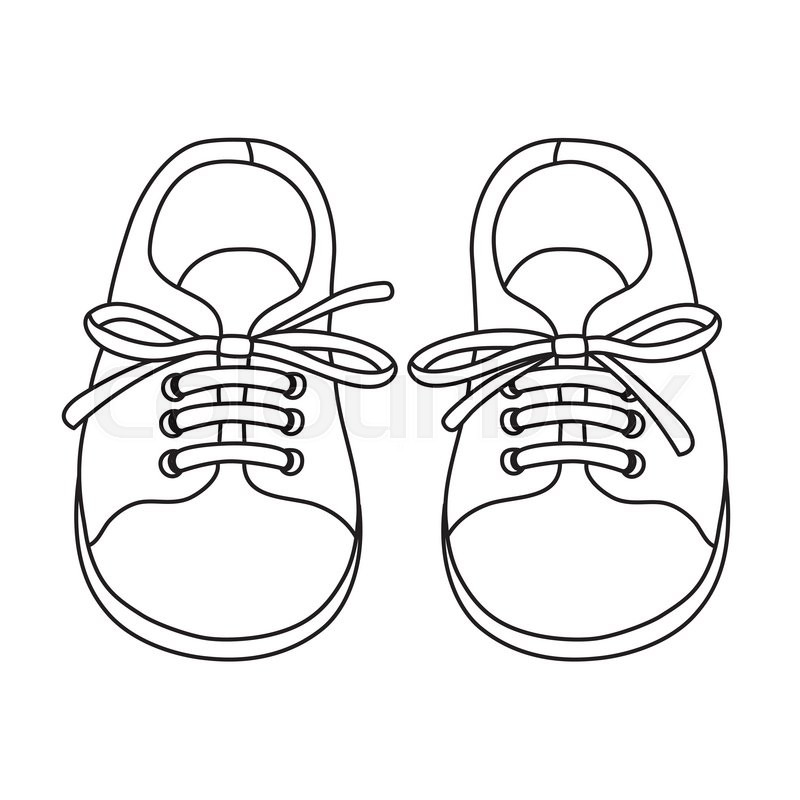 Kids Shoes Boot Sketch Drawing