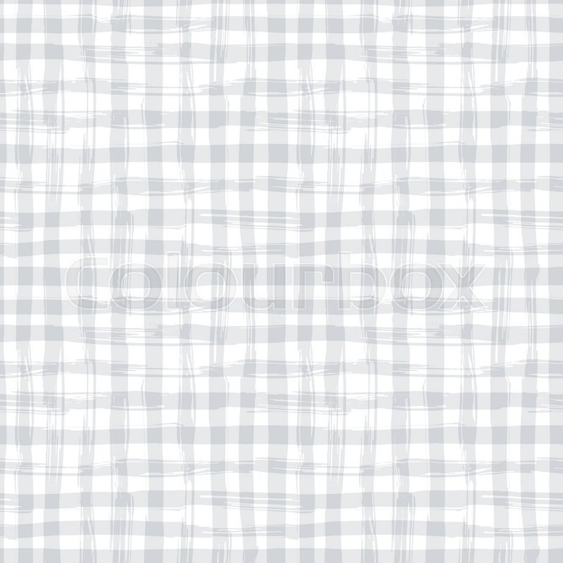 Vector Seamless Pattern With Square Hand Drawn Texture. Grey Checkered  Tablecloth. | Stock Vector | Colourbox
