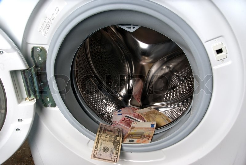 Washing Machine Inside ~ Washing machine and money inside stock photo colourbox
