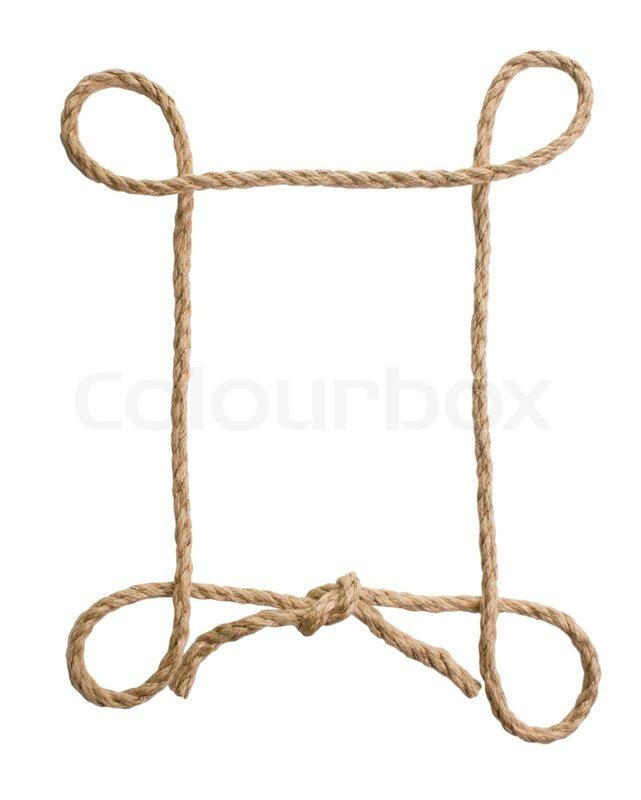 Bilderrahmen von Seil auf einem weißen Hintergrund | Stockfoto ...