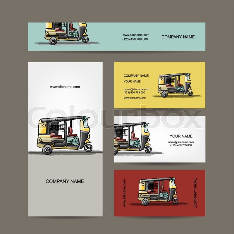 Indian taxi car business cards for your design vector illustration indian taxi car business cards for your design vector illustration vector colourmoves Gallery