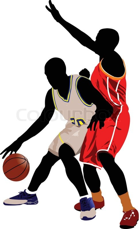 basketball players vector illustration stock vector colourbox rh colourbox com basketball player victory from tacoma academy basketball player vector silhouette