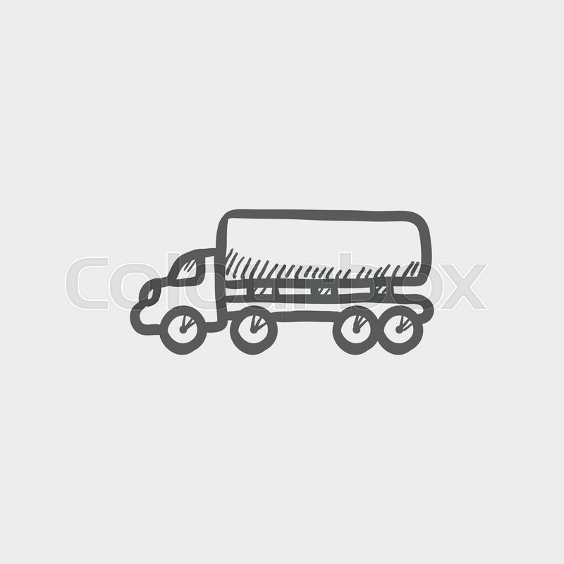 delivery truck sketch icon for web and mobile  hand drawn