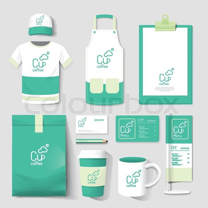 Vector restaurant cafe set flyer, menu, package, t-shirt, cap ...