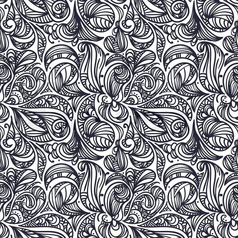 vektor seamless floral monochrome abstrakte muster schnittmasken vektorgrafik colourbox. Black Bedroom Furniture Sets. Home Design Ideas