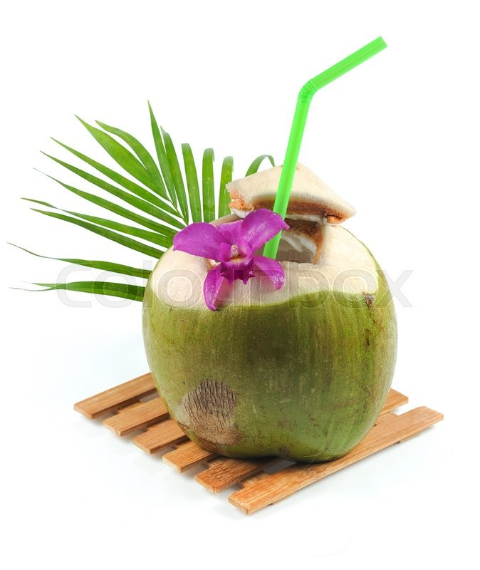 Drinking Juice From Coconut