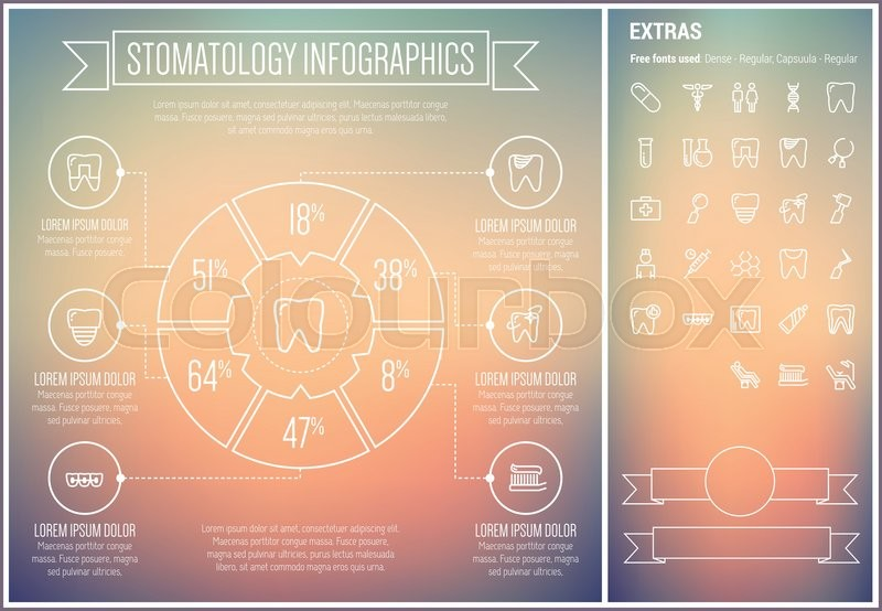 """Infographic Ideas buy infographic template : Buy Vector """"Stomatology infographic template and elements. The ..."""