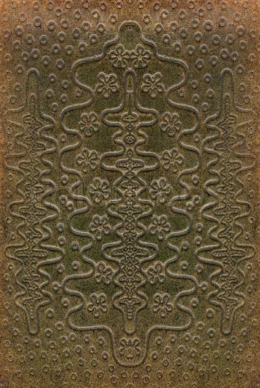 Book Cover Craft Texture ~ Brown and green leathercraft tooled vintage book cover