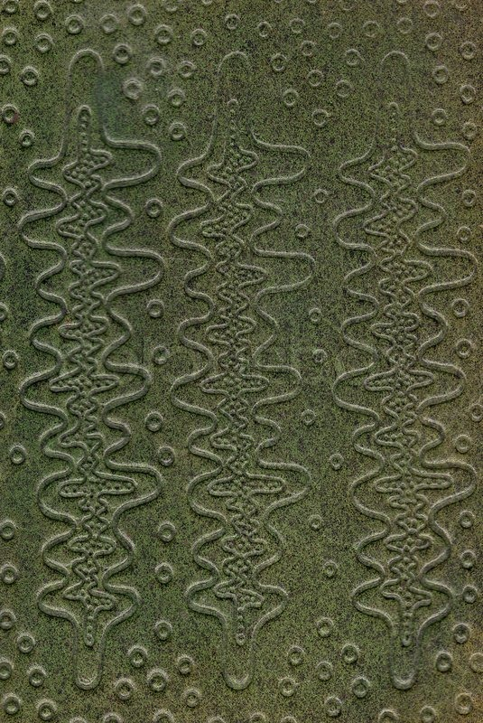 Creased Book Cover Texture : Green leathercraft tooled vintage book cover with texture