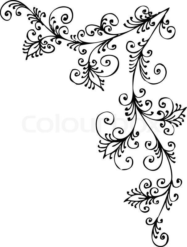 Eau Forte Black And White Swirl Stock Vector Colourbox