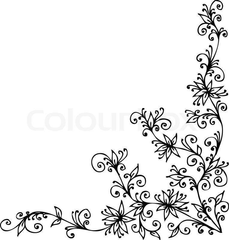 Baroque Vignette 90 Eau Forte Stock Vector Colourbox