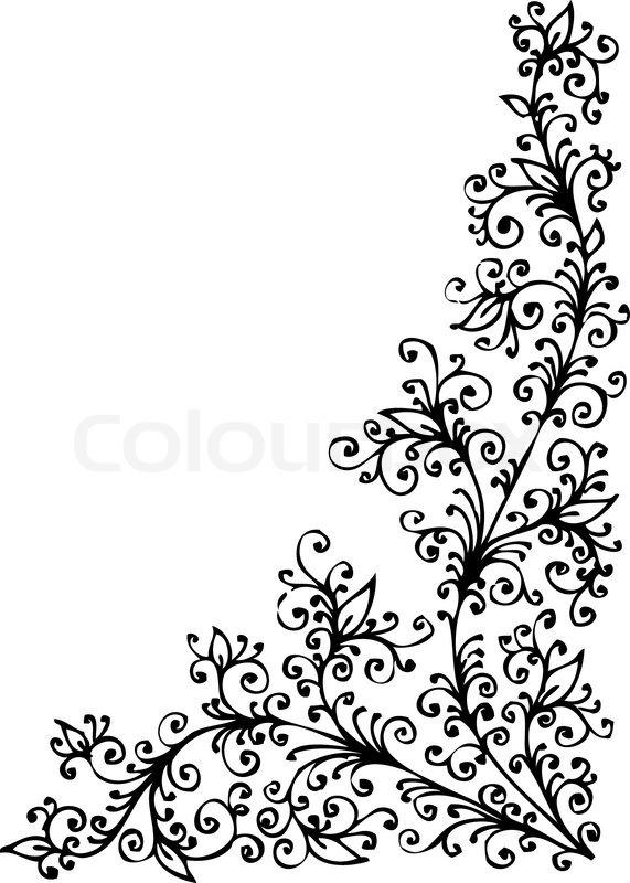 baroque vignette 95 eau forte black and white pattern decorative vector illustration eps 8 vector - Schone Muster Zum Zeichnen