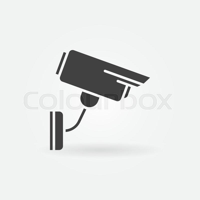 Security Or Surveillance Camera Icon Vector Black Simple Symbol Or