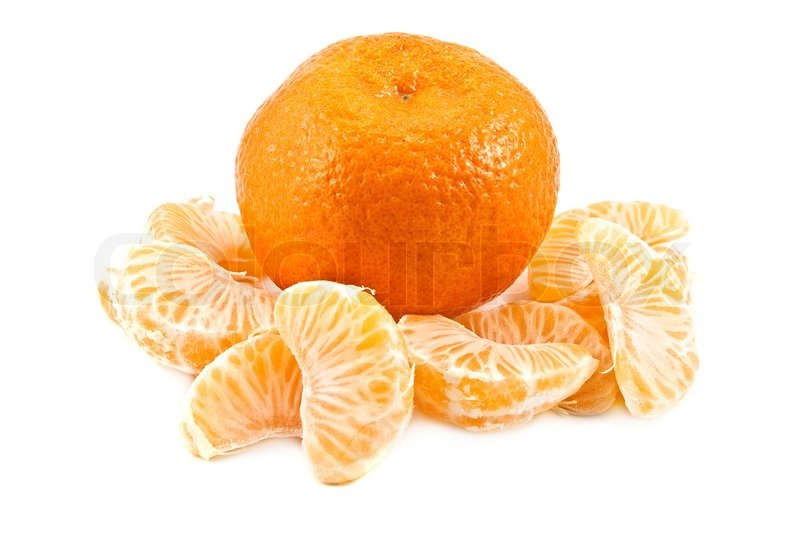 The Whole Tangerine And The Parts Of It Stock Photo Colourbox