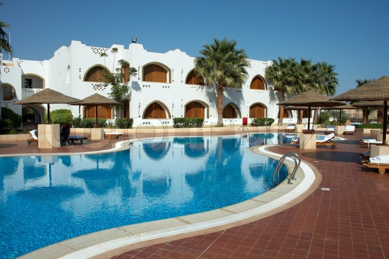 Mediterranean Resort With Swimming Pool Stock Photo Colourbox