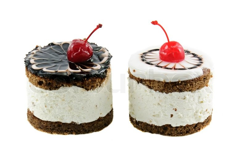 Two chocolate cakes with cherry isolated on white   Stock Photo   Colourbox  sc 1 st  Colourbox & Two chocolate cakes with cherry isolated on white   Stock Photo ...