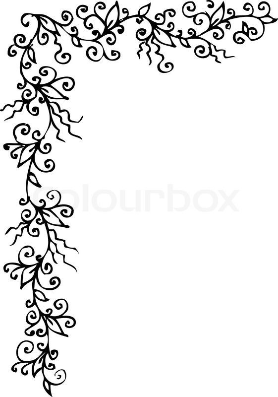 floralen ornament 301 eau forte schwarz wei dekorativen. Black Bedroom Furniture Sets. Home Design Ideas