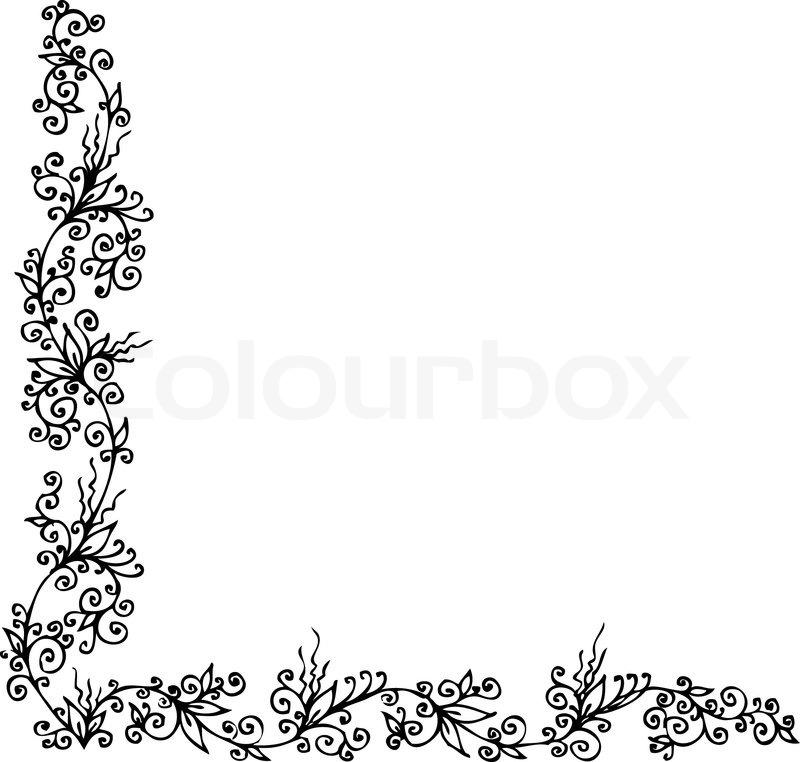 Floralen Ornament 302 Eau-forte schwarz-weiß-dekorativen Hintergrund ...