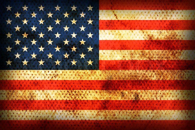 Flagge der USA  Stockfoto  Colourbox