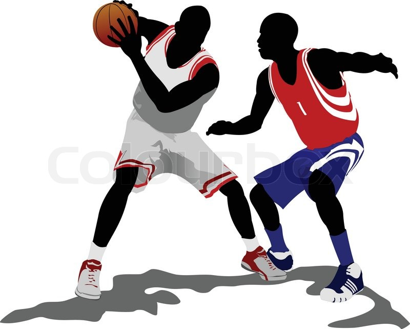 Basketball players  Vector     | Stock vector | Colourbox