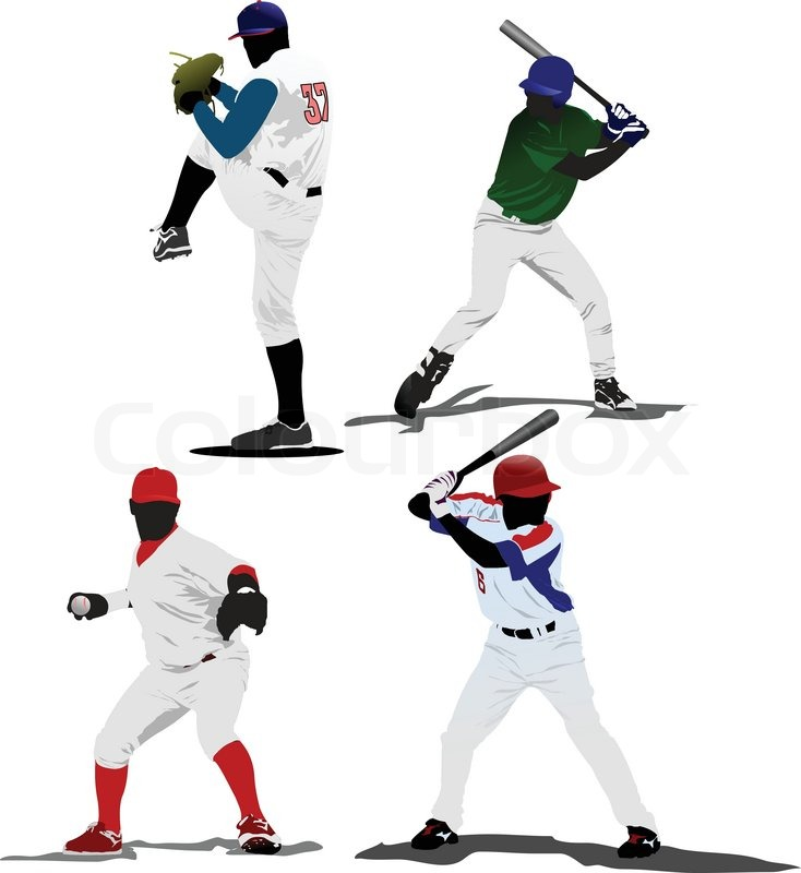 6834 Baseball Player Cliparts Stock Vector And Royalty