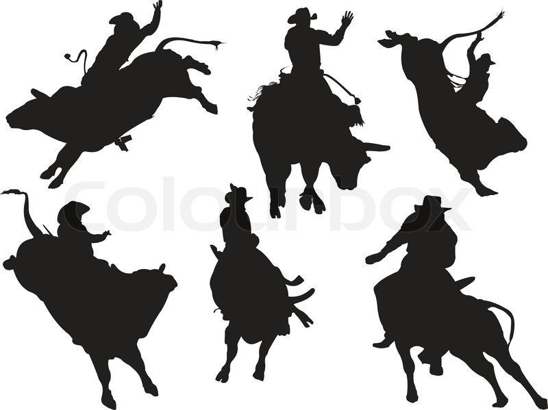 Stock vector of 'Rodeo silhouettes'