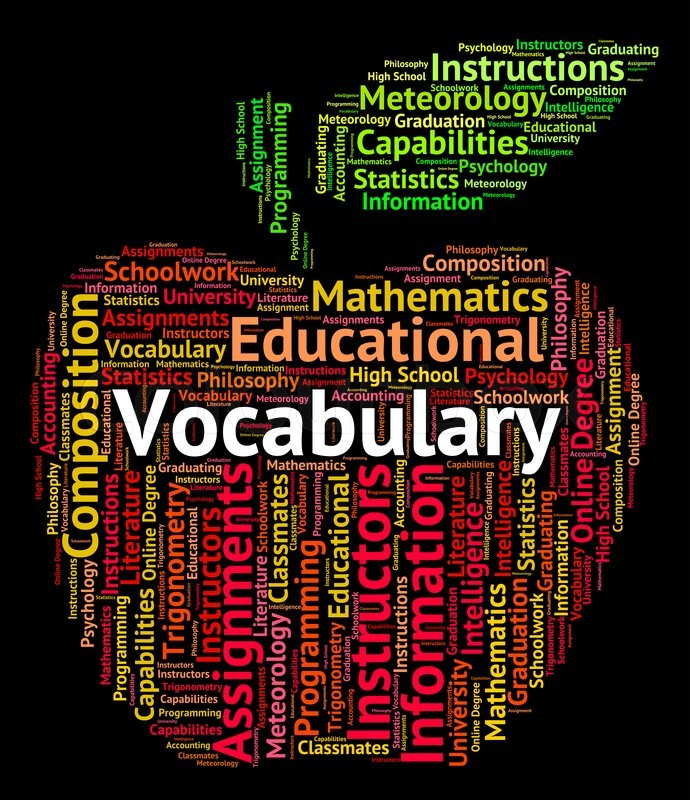 Stock image of 'Vocabulary Word Representing Glossary Spellings And Spell'