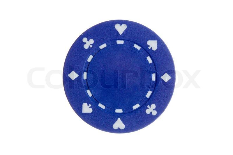 Blue poker chip images