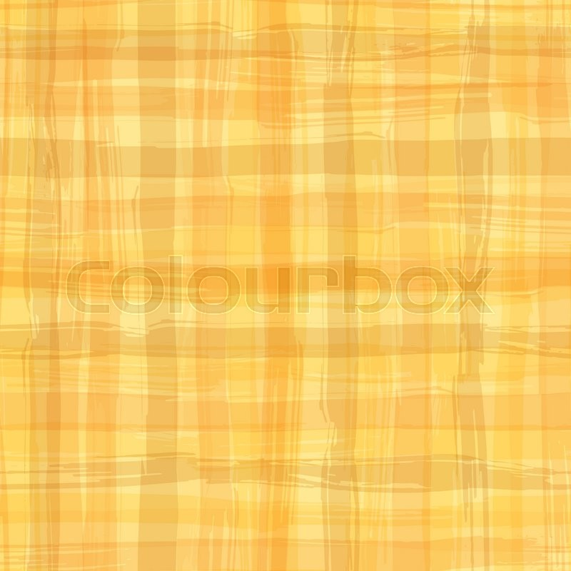 Vector Seamless Pattern With Square Hand Drawn Texture. Yellow Checkered  Tablecloth. | Stock Vector | Colourbox