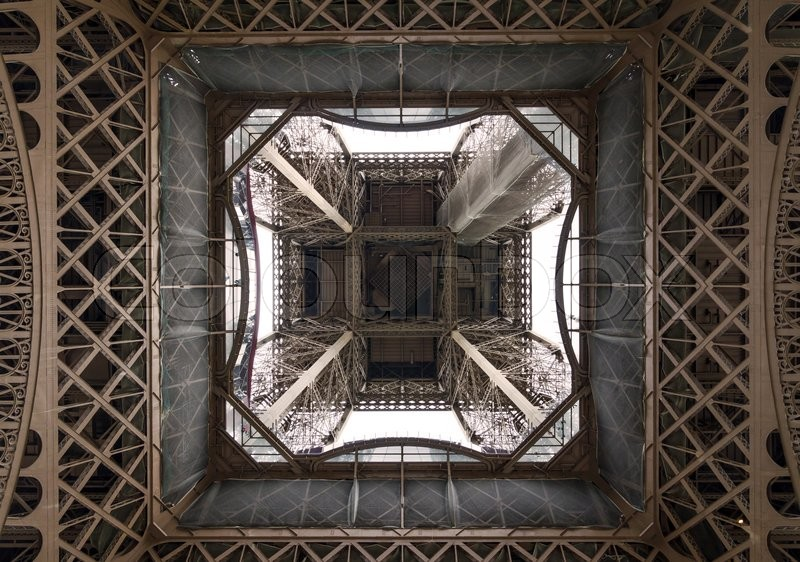 Stock image of 'Fragment of construction, Eiffel Tower in Paris, France'