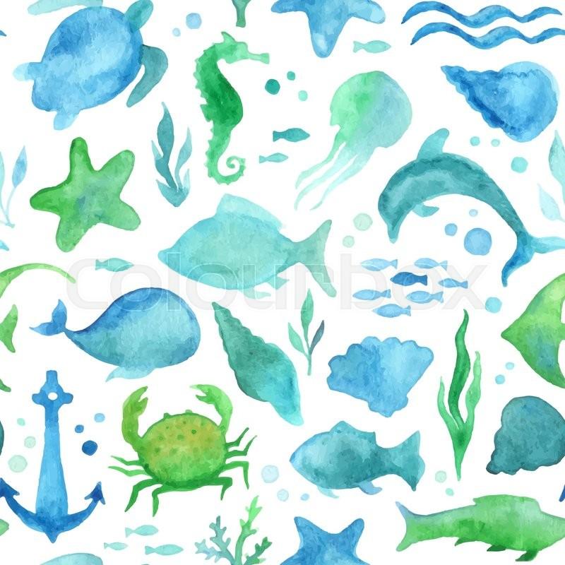 ocean fish wallpaper pattern - photo #11