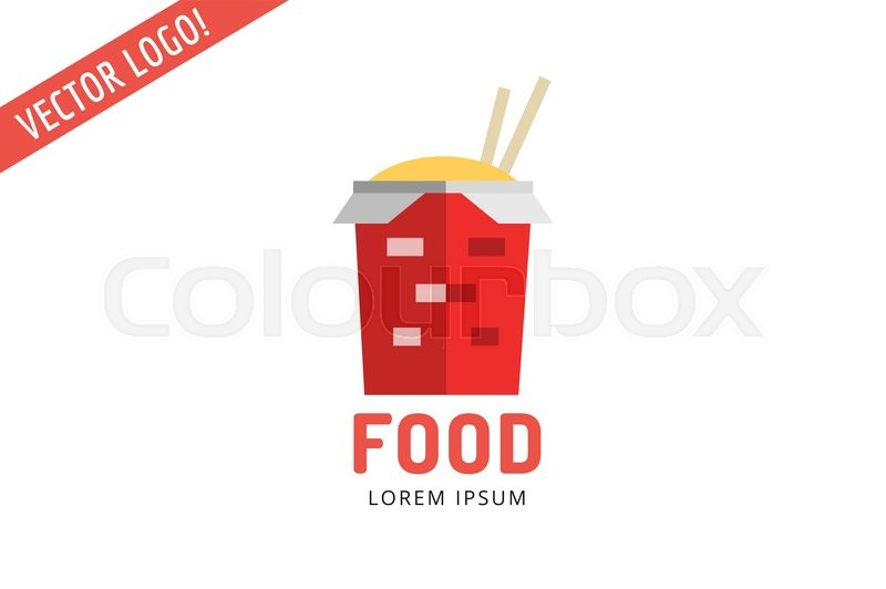 Chinese Noodles Fast Food Logo Icon Template Meat Grilled Product