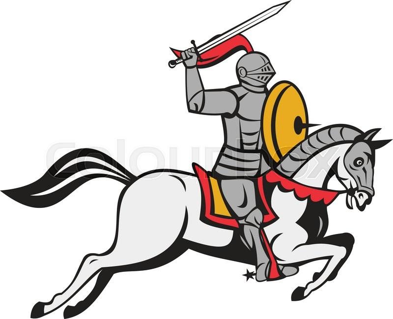 Cartoon Style Illustration Of A Knight Stock Vector Colourbox