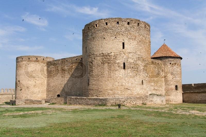 Ancient Akkerman fortress at Belgorod-Dnestrovsky, near Odessa, Ukraine. Citadel old fortress. The South of Ukraine photo, stock photo