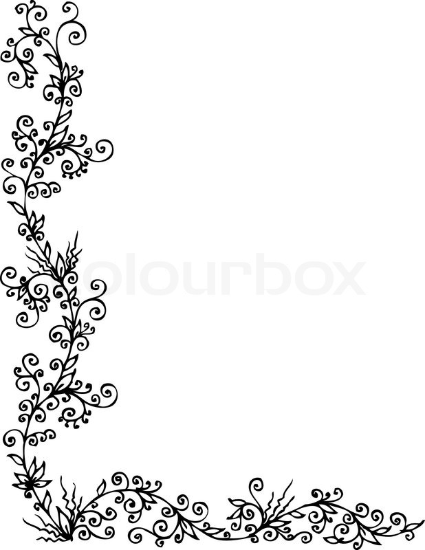 floralen ornament 303 eau forte schwarz wei dekorativen hintergrund muster vektor illustration. Black Bedroom Furniture Sets. Home Design Ideas