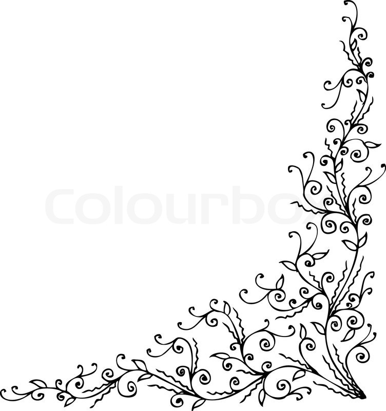 Floralen Ornament 337 Eau-forte schwarz-weiß-dekorativen Hintergrund ...
