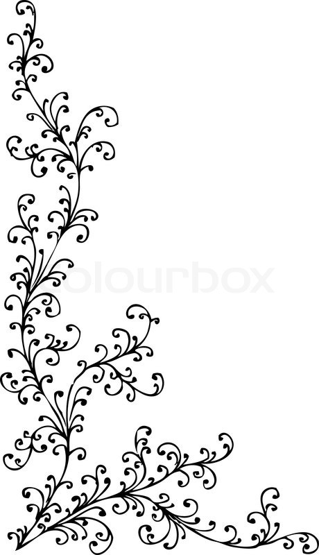 floralen ornament 338 eau forte schwarz wei dekorativen hintergrund muster vektor illustration. Black Bedroom Furniture Sets. Home Design Ideas