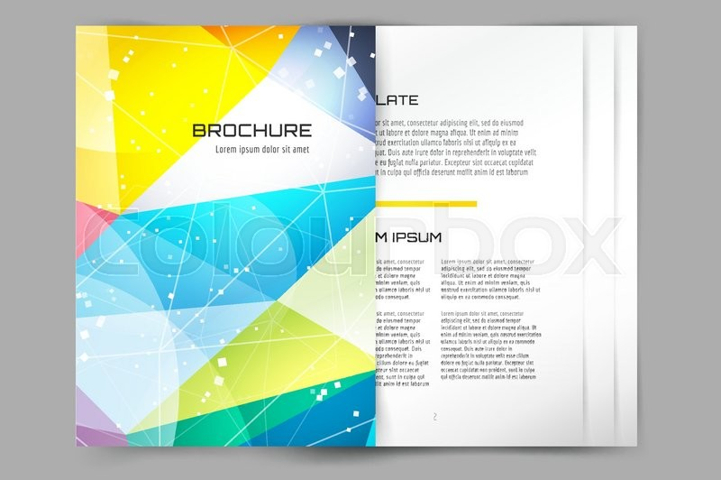 Business card template. Abstract triangle design and creative idea ...