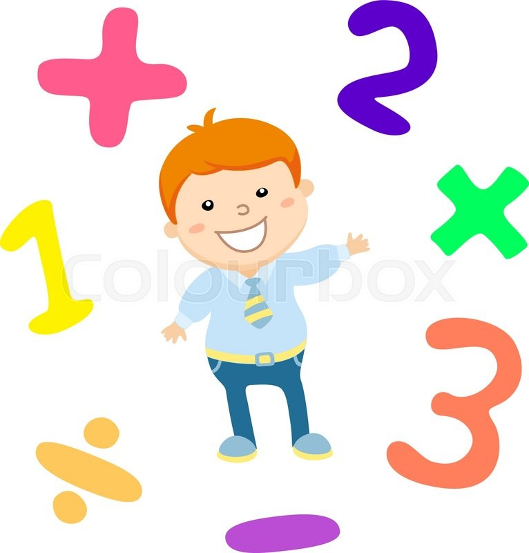 Cartoon Style Math Learning Game Illustration Mathematical
