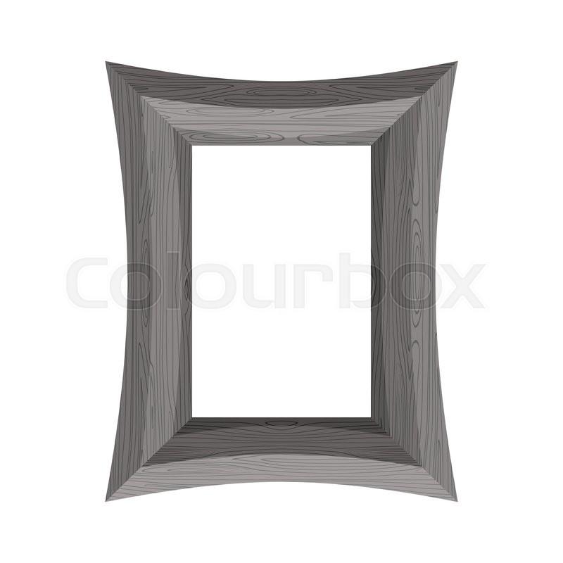 Vintage Wooden picture frame. Vector illustration of black wood ...