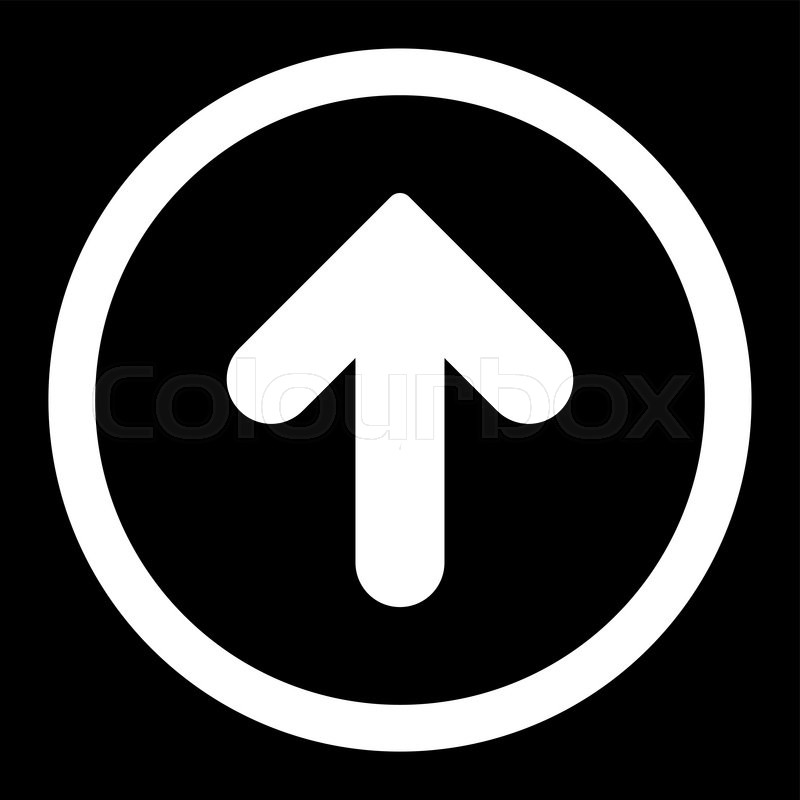 Arrow up vector icon this rounded flat symbol is drawn with white arrow up vector icon this rounded flat symbol is drawn with white color on a black background stock vector colourbox altavistaventures Gallery