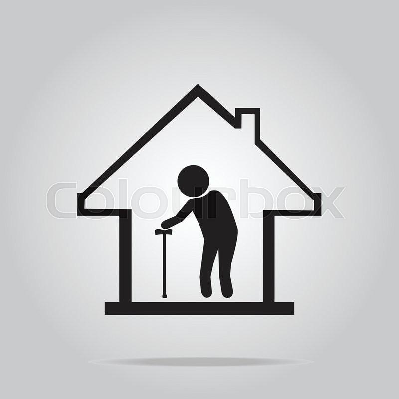 Nursing Home Symbol Icon Vector Illustration Stock Vector Colourbox