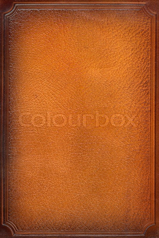 Old Leather Book Cover Background : Brown leathercraft tooled vintage book cover with texture