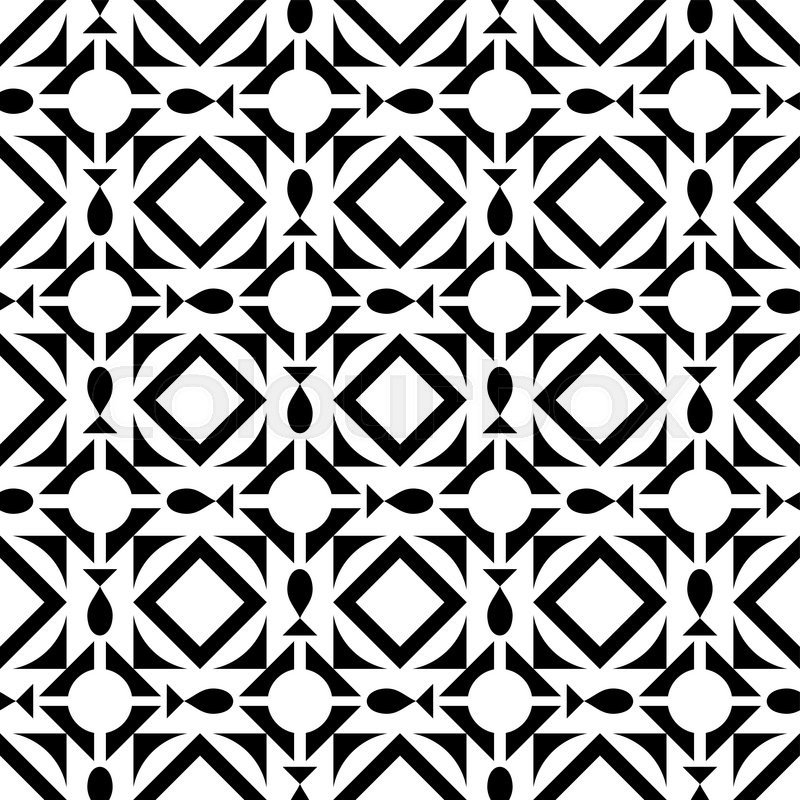 Pattern With Geometric Shapes Modern Background Vector