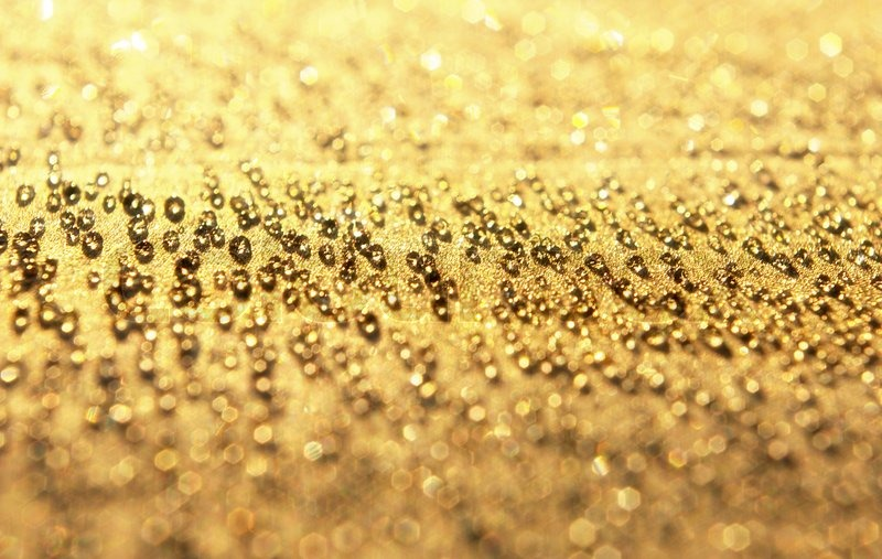 Abstract background from the gold water drops | Stock Photo ...