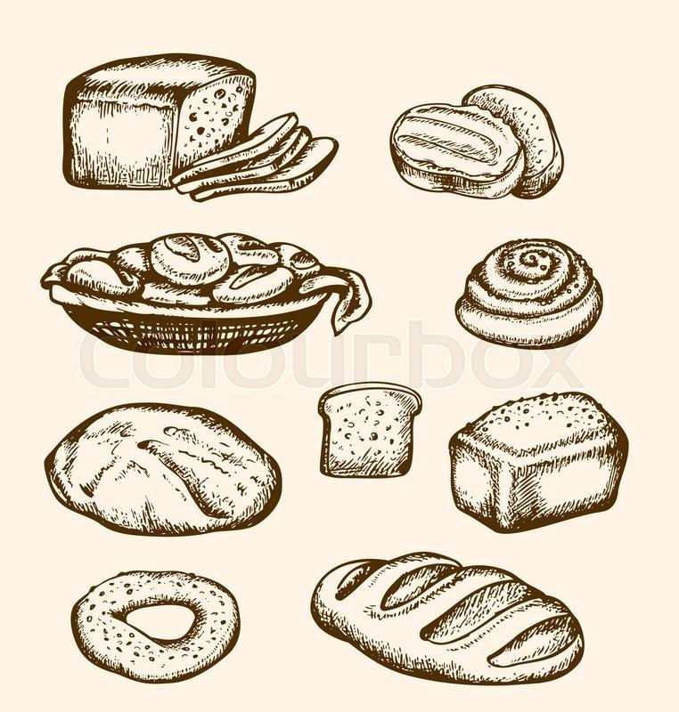 brød tegning