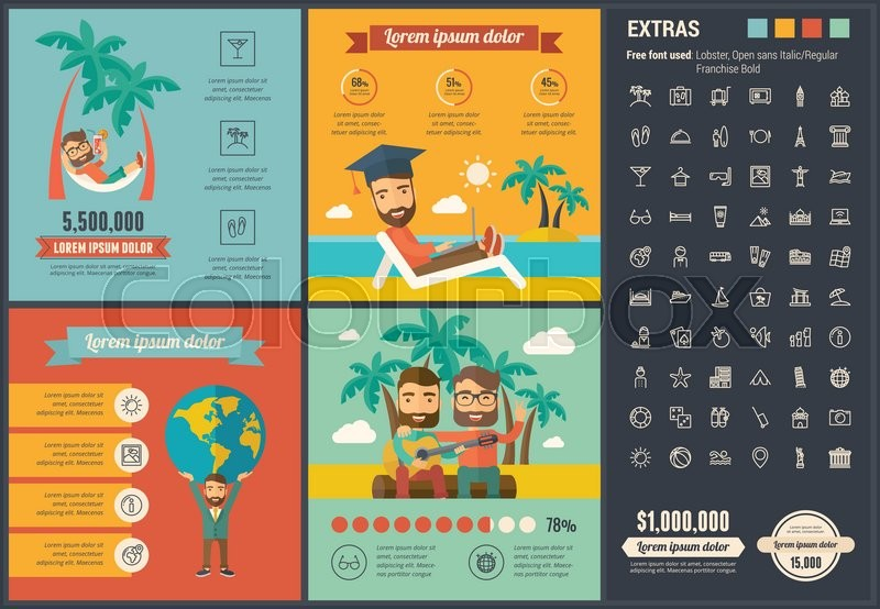 """Infographic Ideas buy infographic template : Buy Stock Vector """"Travel infographic template and elements. The ..."""