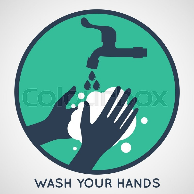 Wash Your Hands Symbol Stock Vector Colourbox