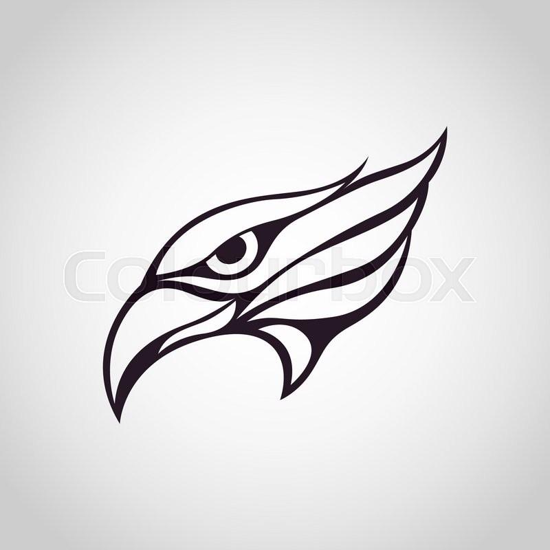 eagle logo stock vector colourbox